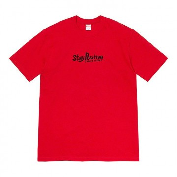 Supreme Red Stay Positive Tee